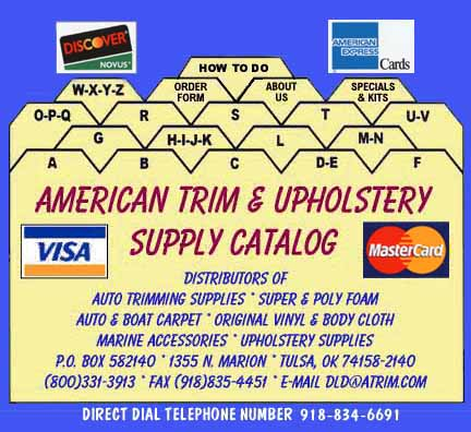 American Trim Amp Upholstery Supply Foam Cushions